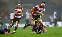 Rugby Union - 2017 European Rugby Challenge Cup Final - Gloucester vs. Stade Francais<br /> <br /> Jeremy Thrush of Gloucester and Rabah Sliming of Stade Francais during the match at Murrayfield.<br /> <br /> COLORSPORT/LYNNE CAMERON