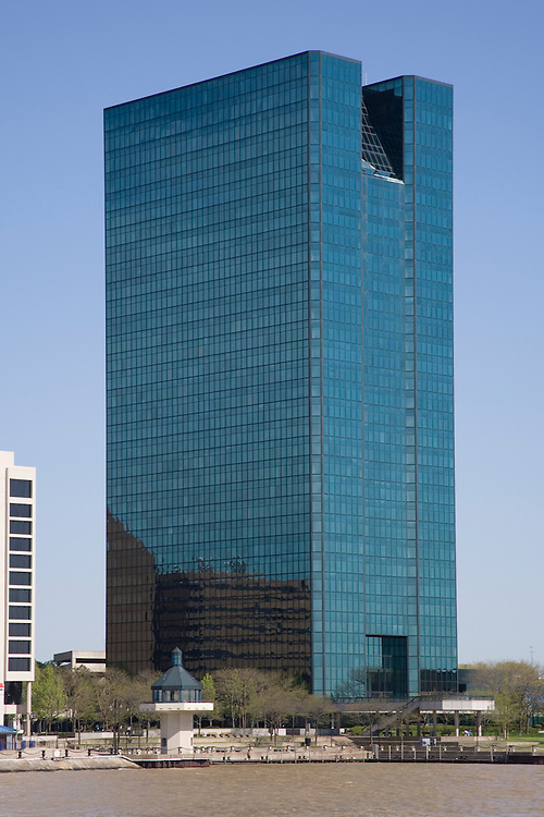OI Building in Toledo Ohio. Located on the Maumee River.