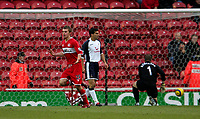 Photo: Andrew Unwin.<br /> Middlesbrough v Tottenham Hotspur. The Barclays Premiership. 18/12/2005.<br /> Middlesbrough's James Morrison (L) celebrates scoring his team's second goal.