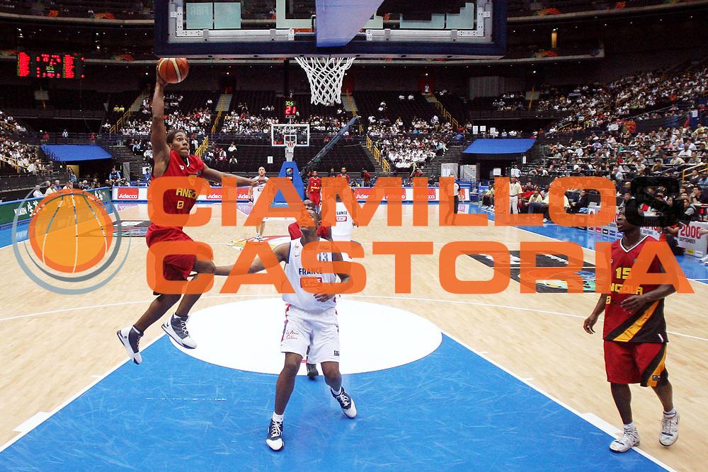 DESCRIZIONE : Saitama Giappone Japan Men World Championship 2006 Campionati Mondiali France-Angola <br /> GIOCATORE : Morais <br /> SQUADRA : Angola <br /> EVENTO : Saitama Giappone Japan Men World Championship 2006 Campionato Mondiale France-Angola <br /> GARA : France Angola Francia Angola <br /> DATA : 27/08/2006 <br /> CATEGORIA : Tiro Sponsor Toyota Kirin Adecco <br /> SPORT : Pallacanestro <br /> AUTORE : Agenzia Ciamillo-Castoria/G.Ciamillo <br /> Galleria : Japan World Championship 2006<br /> Fotonotizia : Saitama Giappone Japan Men World Championship 2006 Campionati Mondiali France-Angola <br /> Predefinita :
