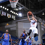 Delaware 87ers Guard Jared Cunningham (17) drives towards the basket in the first half of a NBA D-league regular season basketball game between the Delaware 87ers and the Westchester Knicks (New York Knicks) Wednesday, Feb. 17, 2015 at The Bob Carpenter Sports Convocation Center in Newark, DEL