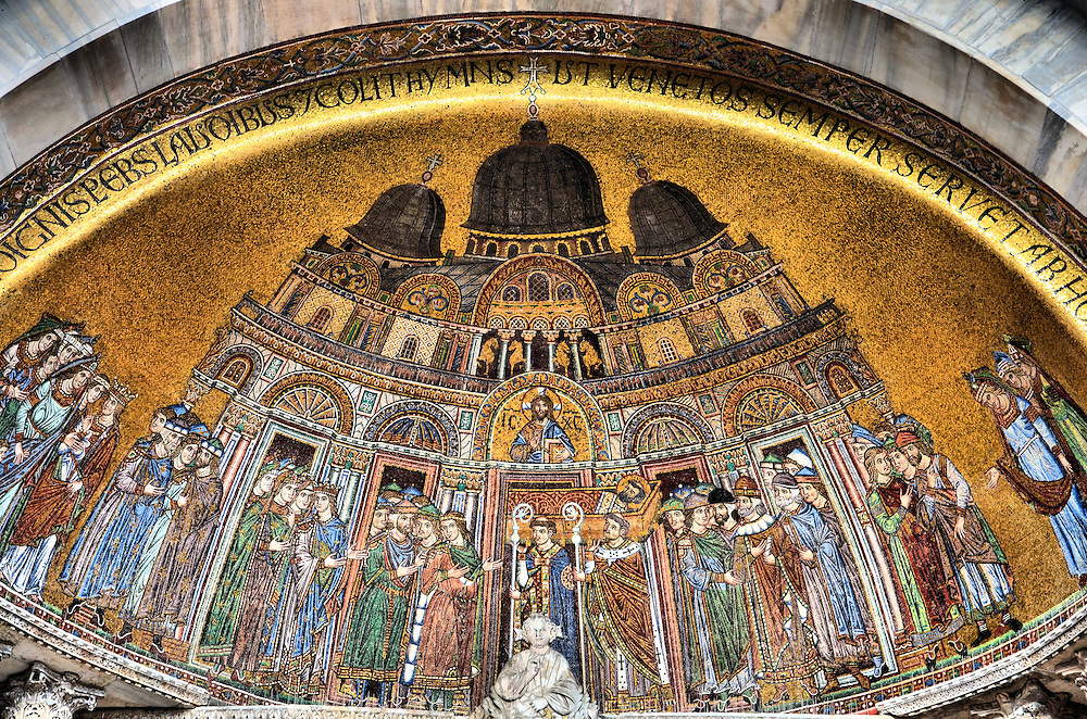 St. Mark&rsquo;s Basilica Deposition of the Relics Mosaic in Venice, Italy<br />
