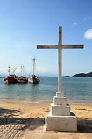abraao beach in the beautiful island of ilha grande near rio de janeiro in brazil