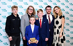 Lily James and Tom Taylor present the award for Best Film: 16-19 for My Friend Frank during the fifth annual Into Film Awards, held at the Odeon Luxe in Leicester Square, London.