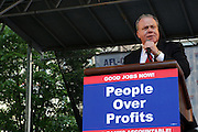 29 April 2010 New York, NY- Jack Ahern, President NYC Central Labor Council at The March on Wall Street held at City Hall Park with proceeding March on Wall Street Protest on April 29, 2010 in New York City.