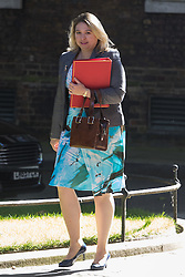 Downing Street, London, July 19th 2016. Secretary of State for Culture, Media and Sport Karen Bradley arrives at the first full cabinet meeting since Prime Minister Theresa May took office.