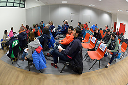 Captains Meeting, at 2018 World Para Alpine Skiing World Cup, Tignes, France