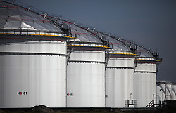 NETHERLANDS AMSTERDAM 11MAY11 - Oil strage tanks  at the port of Amsterdam, Netherlands...Photo by Jiri Rezac