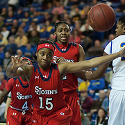 St. John's Guard Danaejah Grant (15) attempts to retrieve the loose ball in the second half of a NCAA regular season non-conference game between Delaware (CAA) and St. John's (Big East) Monday, Dec 30, 2013 at The Bob Carpenter Sports Convocation Center in Newark Delaware.