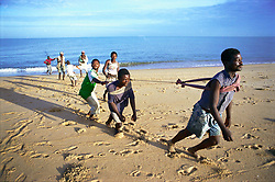 Angola, Benguela.Fishermen hauling in their nets.© Eric Miller
