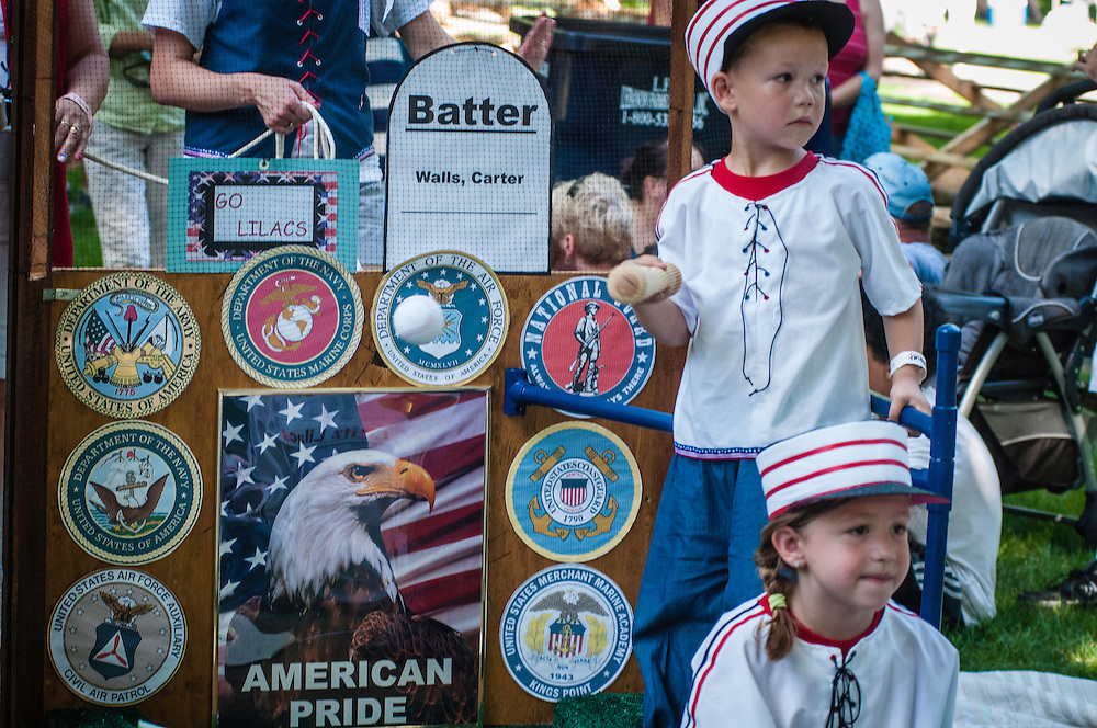 Americana 4th of July small town celebrations with patriotic reenactors, pie eating contest and baby parades. Musser Park, Lancaster, PA and Lititz Springs Park.  Lititz, PA.  was recently named Coolest Small Town in the USA.