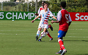 Team USA midfielder Kenan Hot (8) passes the ball during a CONCACAF boys under-15 championship soccer game, Sunday, Aug. 4, 2019, in Bradenton, Fla. The USA defeated Haiti 2-0 (Kim Hukari/Image of Sport)