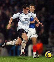 Fotball<br /> England 2004/2005<br /> Foto: BPI/Digitalsport<br /> NORWAY ONLY<br /> <br /> 20/11/2004 <br /> Portsmouth v Manchester City<br /> FA Barclays Premiership, Fratton Park<br /> <br /> Joey Barton, back in the Man City midfield, powers past Gary O'Neil