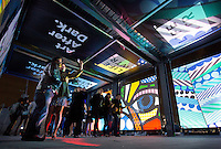"Guests attend LIFEWTR's ""Art After Dark,"" an entertainment experience fusing music, technology and art, during Super Bowl Week 2017 in Houston, Texas."