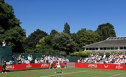 Maria Sharapova in action during day one of the Aspall Classic at the Hurlingham Club, London.
