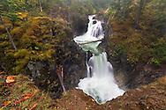 Upper Little Qualicum Falls at Little Qualicum Falls Provincial Park in the Nanaimo Regional District, British Columbia, Canada