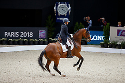 EPAILLARD Julien (FRA), Quatrin de la Roque LM<br /> Paris - FEI World Cup Finals 2018<br /> FEI World Cup Grand Prix de Dressage<br /> www.sportfotos-lafrentz.de/Stefan Lafrentz<br /> 13. April 2018