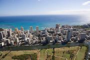 Ala Wai Canal, Waikiki Beach, Oahu, Hawaii<br />