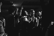 Rob Benedict on stage with fans at the Dick and Matt Karaoke party, Salute to Supernatural Las Vegas 2014