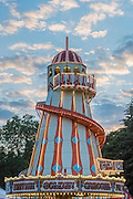Dusk over the trademark helter skelter - The 2016 Latitude Festival, Henham Park, Suffolk.