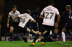 Jack Marriott of Peterborough United scores the equalising goal - Mandatory by-line: Joe Dent/JMP - 17/10/2017 - FOOTBALL - Roots Hall - Southend-on-Sea, England - Southend United v Peterborough United - Sky Bet League Two