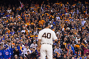 San Francisco Giants fans cheer on starting pitcher Madison Bumgarner (40) during Game 3 of the NLDS against the Chicago Cubs at AT&T Park in San Francisco, Calif., on October 10, 2016. (Stan Olszewski/Special to S.F. Examiner)
