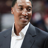 30 October 2010: Former Bulls player Scottie Pippen, ambassador of the Bulls, is seen prior to the Chicago Bulls 101-91 victory over the Detroit Pistons at the United Center, in Chicago, Illinois, USA.