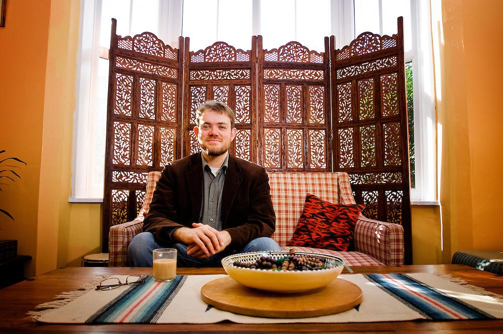 Muslim convert Yahya Birt (son of ex Director General of the BBC, John Birt), Leicester, England, UK.