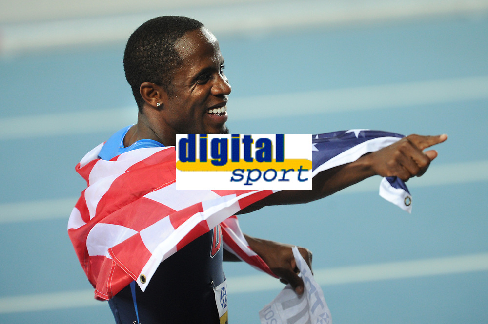 ATHLETICS - IAAF WORLD CHAMPIONSHIPS 2011 - DAEGU (KOR) - DAY 7 - 02/09/2011 - PHOTO : STEPHANE KEMPINAIRE / KMSP / DPPI - <br /> LONG JUMP - MEN - FINALE - GOLD MEDAL - DWIGHT PHILLIPS (USA)