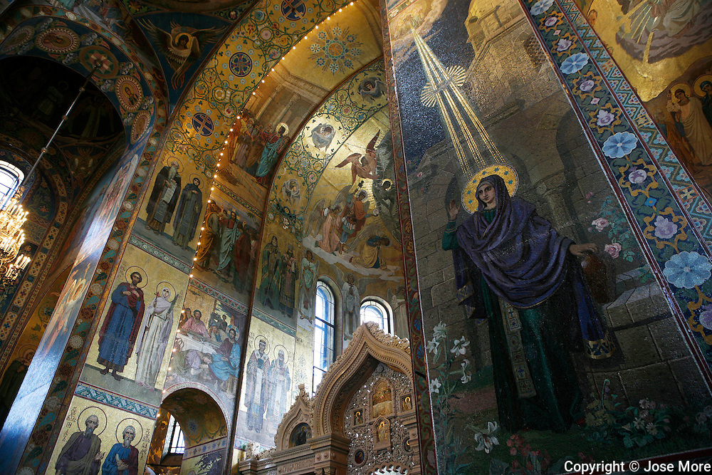 The Church of Our Savior on Spilled Blood, a Russian-style church was built on the spot where Emperor Alexander II was assassinated in Saint Petersburg on March 1881. <br /> <br /> Photography by Jose More
