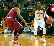 WACO, TX - NOVEMBER 12: Gary Franklin #4 of the Baylor Bears brings the ball up court against the South Carolina Gamecocks on November 12, 2013 at the Ferrell Center in Waco, Texas.  (Photo by Cooper Neill/Getty Images) *** Local Caption *** Gary Franklin