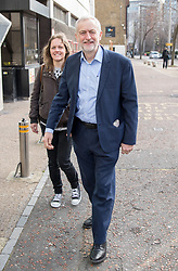 © Licensed to London News Pictures. 26/03/2017. London, UK. Leader of the Labour Party Jeremy Corbyn arrives at the ITV Studios to appear on 'Peston on Sunday' programme. Photo credit : Tom Nicholson/LNP