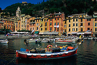 2000, Portofino, Italy --- Portofino Harbor --- Image by © Owen Franken/CORBIS