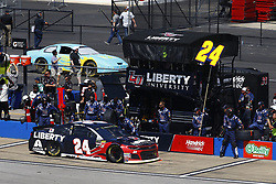 April 29, 2018 - Talladega, Alabama, United States of America - William Byron (24) brings his car down pit road for service during the GEICO 500 at Talladega Superspeedway in Talladega, Alabama. (Credit Image: © Chris Owens Asp Inc/ASP via ZUMA Wire)