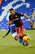 Danny Williams attacks during the Sky Bet Championship match between Birmingham City and Reading at St Andrews, Birmingham, England on 13 December 2014.