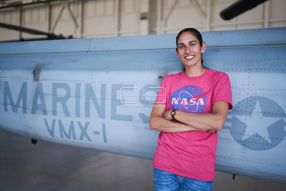 "June 21, 2017. Yuma Arizona. United States Marine Corp Major Jasmin ""Jaws"" Moghbeli, who is a 2017 NASA Astronaut Candidate.    Photo Copyright John Chapple / www.JohnChapple.com"