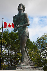 Terry Fox Monument with Canadian Flag, Thunder Bay, Ontario, Canada