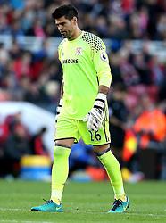 Victor Valdes of Middlesbrough - Mandatory by-line: Robbie Stephenson/JMP - 16/10/2016 - FOOTBALL - Riverside Stadium - Middlesbrough, England - Middlesbrough v Watford - Premier League