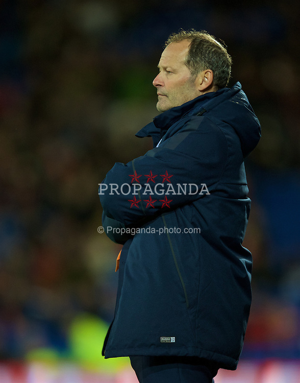 CARDIFF, WALES - Friday, November 13, 2015: The Netherlands' head coach Danny Blind during the International Friendly match against Wales at the Cardiff City Stadium. (Pic by David Rawcliffe/Propaganda)