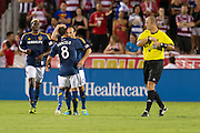 FRISCO, TX - AUGUST 11:  Landon Donovan #10 of the Los Angeles Galaxy celebrates after his second goal of the game against FC Dallas on August 11, 2013 at FC Dallas Stadium in Frisco, Texas.  (Photo by Cooper Neill/Getty Images) *** Local Caption *** Landon Donovan