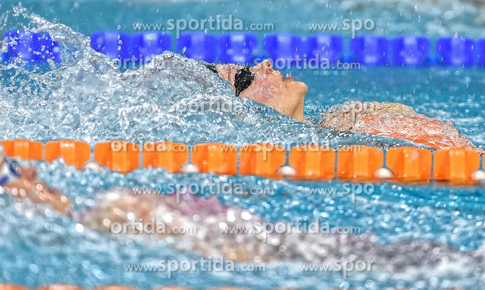 02-04-2015 NED: Swim Cup, Eindhoven<br /> Tessa Vermeulen 200m rug<br /> Photo by Ronald Hoogendoorn / Sportida