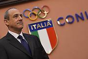 ROMA 20 GENNAIO 2016<br /> PRESENTAZIONE NUOVO CT DELLA NAZIONALE ITALIANA DI BASKET ETTORE MESSINA <br /> Foto Ciamillo