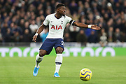 Serge Aurier in action during the Premier League match between Tottenham Hotspur and Chelsea at Tottenham Hotspur Stadium, London, United Kingdom on 22 December 2019.
