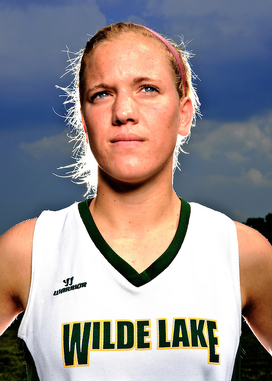 (staff photo by Matt Roth)..Wilde Lake lacrosse player Beth Glaros scored 85 goals last year and will play for Maryland next year. She is photographed at her school Thursday, May 27, 2010...
