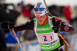 Tina Bachmann of Germany during the Mixed 2x6 + 2x7,5km relay of the e.on IBU Biathlon World Cup on Saturday, December 19, 2010 in Pokljuka, Slovenia. The fourth e.on IBU World Cup stage is taking place in Rudno polje - Pokljuka, Slovenia until Sunday December 19, 2010. (Photo By Vid Ponikvar / Sportida.com)