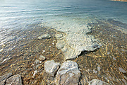 Crystallized slat rocks along the shores of the Dead Sea, Israel.