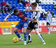 Dundee&rsquo;s Calvin Colquhoun gets to grips with Inverness&rsquo; Liam Polworth  - Inverness Caledonian Thistle  v Dundee, Ladbrokes Scottish Premiership at Caledonian Stadium <br /> <br />  - &copy; David Young - www.davidyoungphoto.co.uk - email: davidyoungphoto@gmail.com