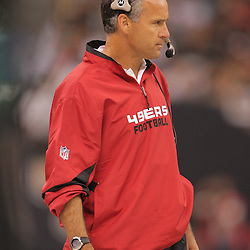2008 September 28: San Francisco 49ers Head Coach Mike Nolan on the sideline during the NFL week four game between the San Francisco 49ers and the New Orleans Saints at the Louisiana Superdome in New Orleans, LA.