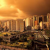 Skyline of Downtown District, Caracas, Venezuela.