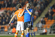 Steven Davies rues a late chance during the EFL Sky Bet League 1 match between Blackpool and Rochdale at Bloomfield Road, Blackpool, England on 26 September 2017. Photo by Daniel Youngs.
